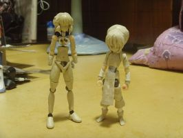 WIP- Toph and Selen action figure by renirevenge