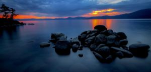 East Shore Tahoe in a Grey + Orange Mood by sellsworth