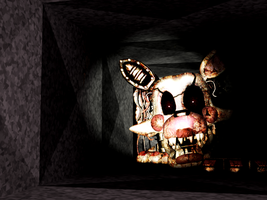 FNAF [Mangle Old] In The Right Air Vent by Christian2099