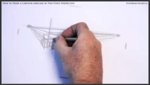 Learn How To Draw A Cartoon Airplane 003 by drawingcourse