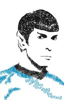 Mr. Spock in Type by Cego-Colher