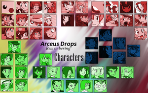 Arceus Drops - Remembering Characters by Nine-Sixteenths