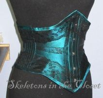 Ribbon corset with lace by BlackvelvetSITC