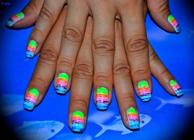 Rainbow nails by Pocaita