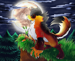 Howling to the moon by AR-ameth
