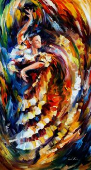 Passionate Flamenco by Leonid Afremov by Leonidafremov