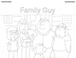 1st Family Guy Drawing 2003 by InsaneKane87