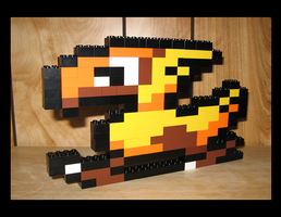 Lego Chocobo by Spawn-of-Jack