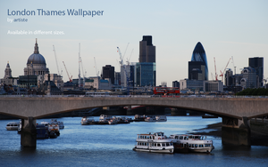 London Thames Wallpaper by photoartiste