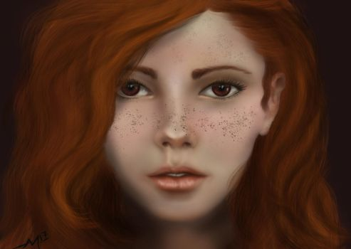 Red Head freckles by ALMcNelly
