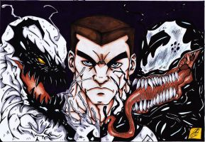 anti-venom venom orignal art colour by darkartistdomain