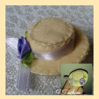 Brooch The hat for the charity bazaar by TTrebina