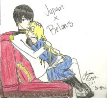 Japan and Belarus by guardian-angel15