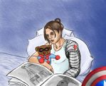 Bucky and Bucky Bear by KanaGo
