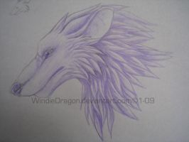 lavender wolf thing by WindieDragon