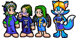 COMMISSION: Sprites for Fiz by BLKMKT-ARCHIVE