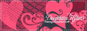 Decorative Hearts Brushes by Romenig