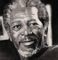 Morgan Freeman by silenthero1