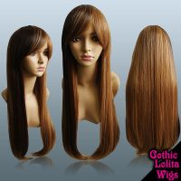 Long Straight Hime 2-Tone Wig by GothicLolitaWigs