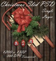 Christmas Sled PSD Zipped File by briarmoon-stock