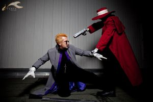 EXPCon 2011 - Hellsing | Anderson + Alucard by elysiagriffin