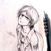 Sketch: Eren by eumiii
