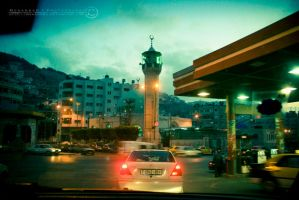 Amman Street in Nablus by Muhanned