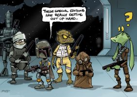 Boba Fett and the Bounty Hunters by FromAboveComic