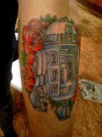 R2D2 Tattoo by GlorifiedDoorbell