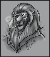 Monocle Lion by fuzzypinkmonster