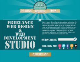 Blue Coming Soon Page FREE PSD by NatalyBirch