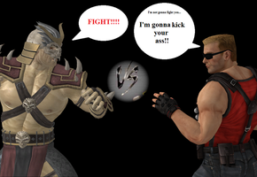 Shao Kahn Vs Duke Nukem by GEOcw89