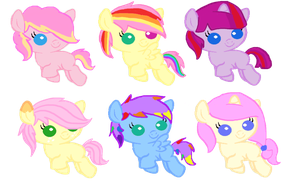 Fluttershy x Mane six shipping adopts! by iVui