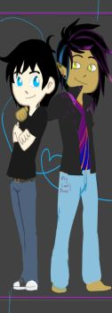 Magnus and Alec bookmark by SuperSpecialOzsome