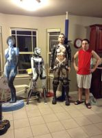 Mass Effect 3 EDI, Jack, and Cortana by tankball