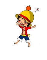 Chibi Luffy by RinALaw