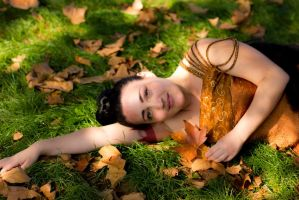 Bed of Leaves by ArielKuran
