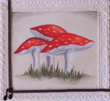 fly agaric by Fricky-Blue-Eye
