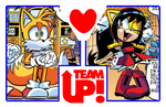 Team Up + Couple ~ Tails and Honey by 4xEyes1987