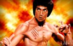 Bruce Lee painting by arthurforzus