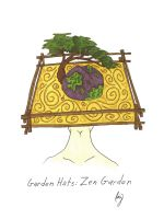 Garden Hats: Zen Garden by Allison-beriyani
