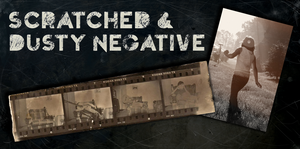 Scratched and Dusty Negative Texture Pack by JHibbs