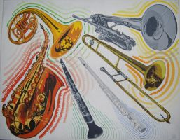 Brass and Woodwind Instruments by Bewilderbeast