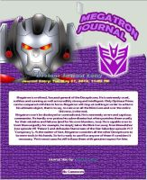Megatron Journal CSS-Commission for TheWarlockDude by Pascua-Tanya
