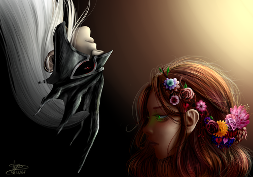 Hades and Persephone by Ellyneart