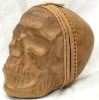 Full size leather skull 1 by GriffinLeather