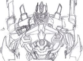 Day of the Moose Sketch 10: Prototype Ultra Magnus by ConstantM0tion