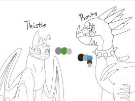Meet Thistle and Rocky! :D by Camy-Orca