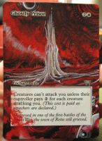 Magic Card Alteration: Ghostly Prison 12-5 by Ondal-the-Fool