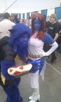 Mystique and Beast by boryenko